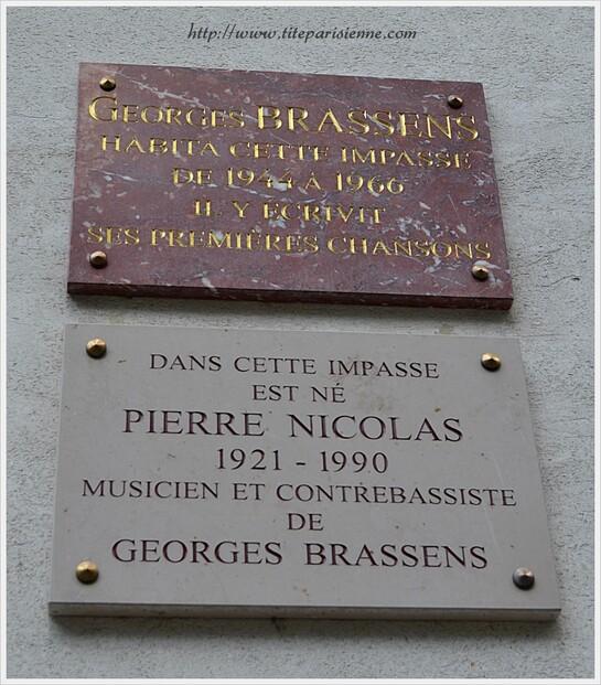 Georges Brassens ... Jeanne et Marcel : Impasse Florimont Paris 14ème