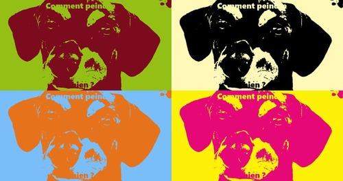 Dessin et peinture - vidéo 2650 : Comment peindre un chien (canidae) ? - acrylique ou huile.