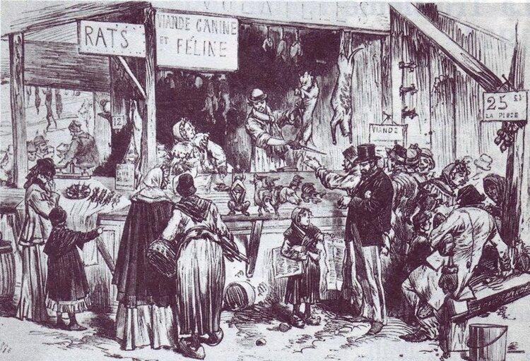 Le siège de Paris : « Mangez du chien, du chat et du rat »
