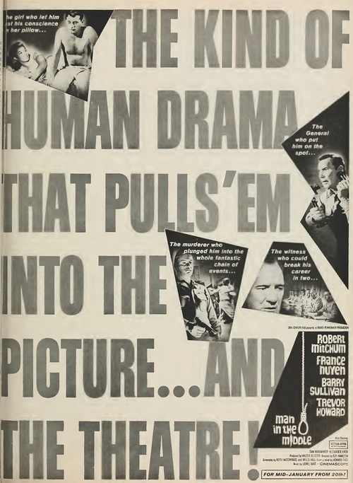 MAN IN THE MIDDLE BOX OFFICE USA 1964