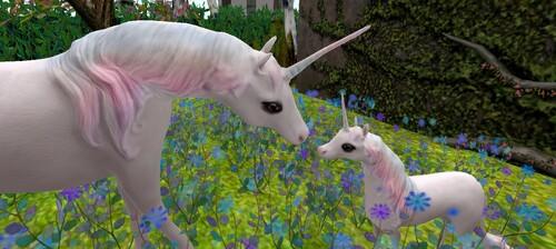 Licorne mère et fille