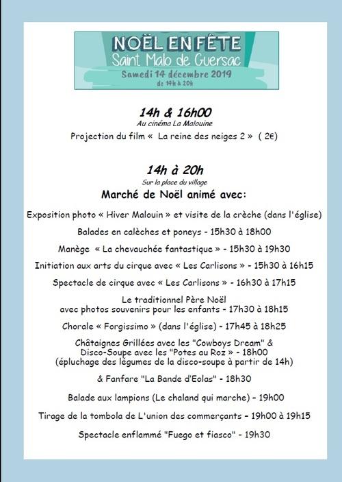 Fête de Noël - Saint-Malo-de-Guersac 2019