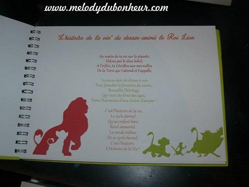 Livre d'or thème Simba Roi Lion