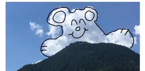 Dessiner sur les nuages (tableau interactif)
