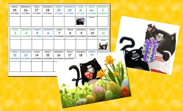 presentation calendrier