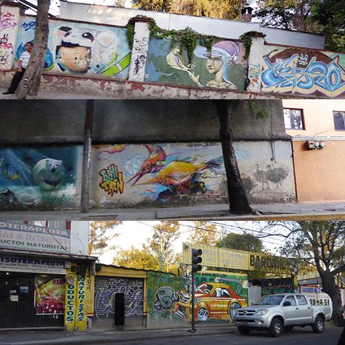 MEXICO DF : DE MUR EN MUR MURS MURS - 2