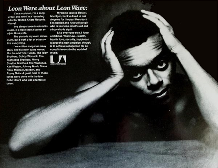 "Leon Ware : Album "" Leon Ware "" United Artists Records UAS-5582 [ US ]"