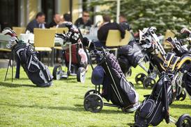Un chariot de golf au service du jardin