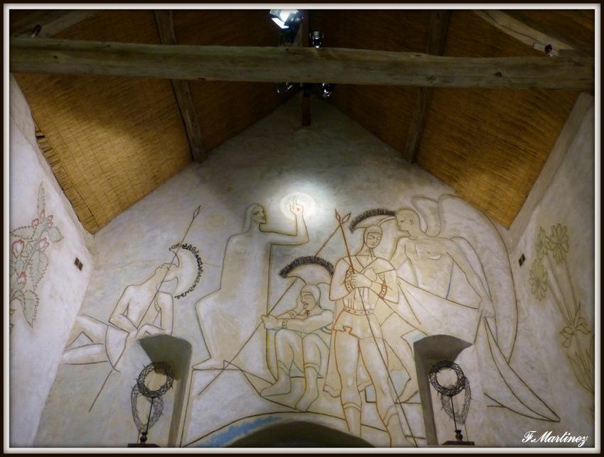 Fresque de la Résurrection au-dessus de l'autel