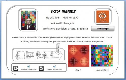 Carte d'identité Vasarely