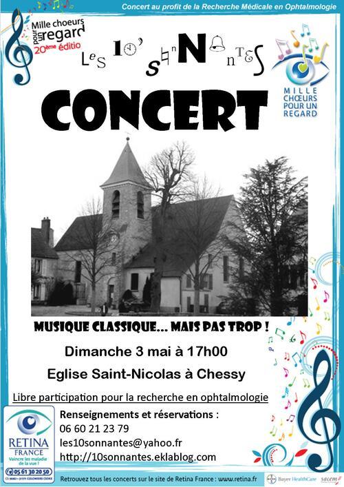 Concert à Chessy pour Rétina