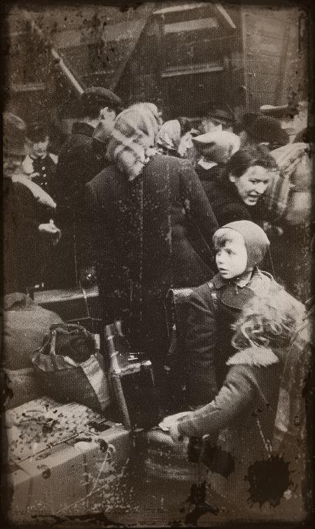 réfugiés allemands en 1945
