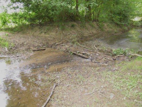 L'Auzance n'offre qu'un faible filet d'eau (21 juin 2011)