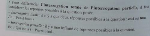 C / La forme interrogative