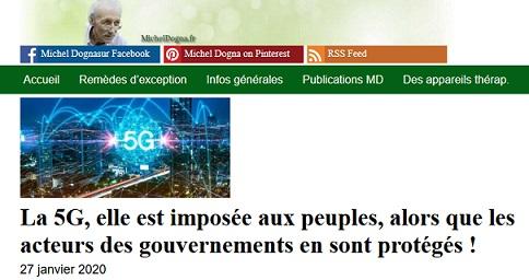 La 5G est imposée au peuple… alors que les gouvernements s'en protègent !