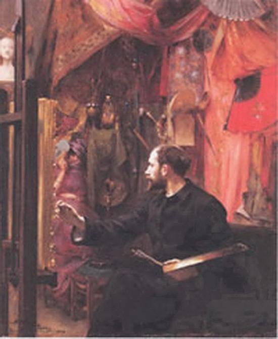Victor Prouvé, Autoportrait à