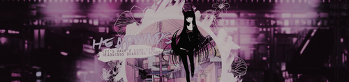 Header manga violet