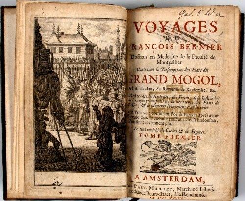 Une édition en date de 1689 des Voyages de François Bernier