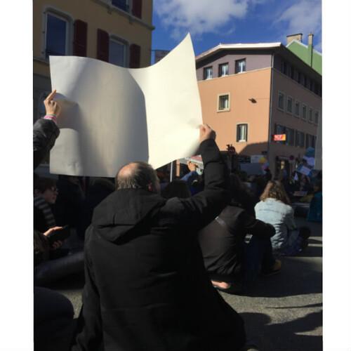 Manifestation contre le climat.