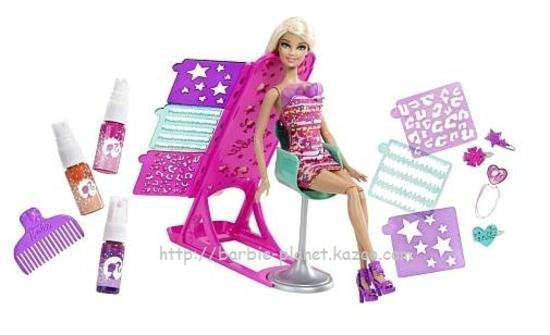 Barbie Studio Relooking Coiffure, tout l'équipement!
