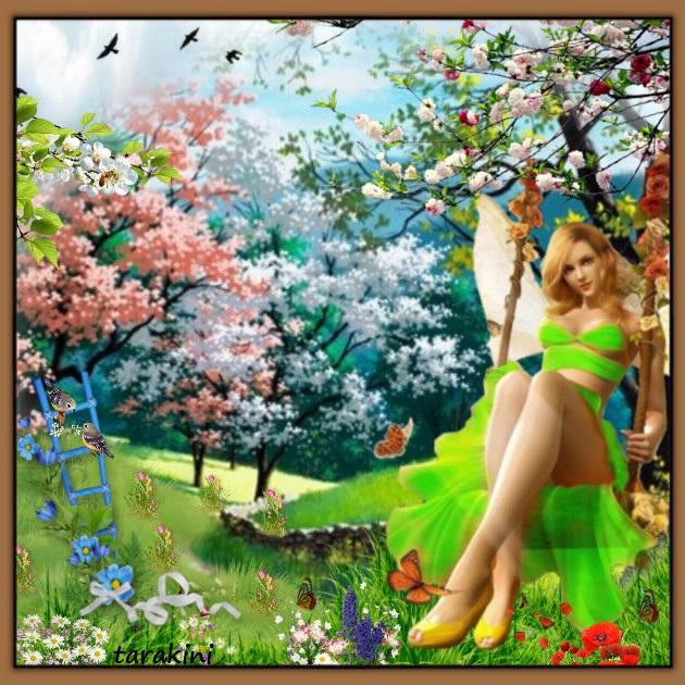 défi chez Arlette  * Le printemps arrive ! *