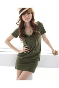 top-gun-army-green-utility-dress