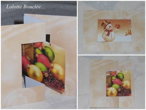 Confection de carte de Noël...
