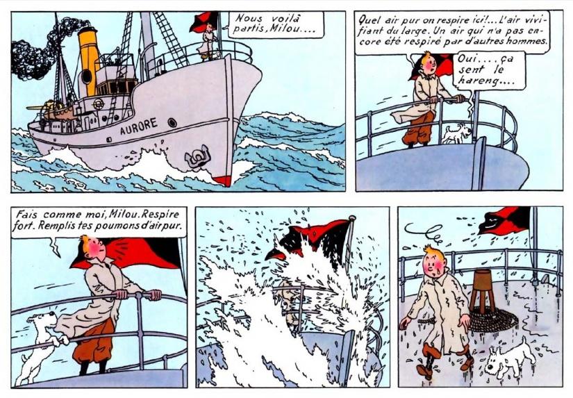 """Fais comme moi milou..."" (Le nez de Tintin)"