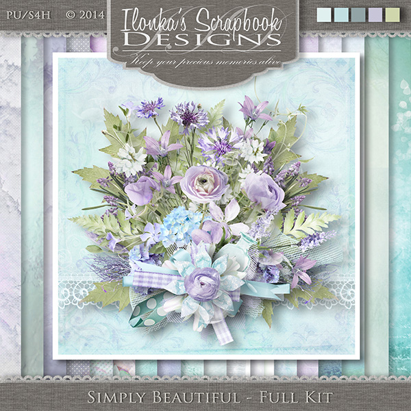 Simply Beautiful by Ilonka Scrapbook Designs