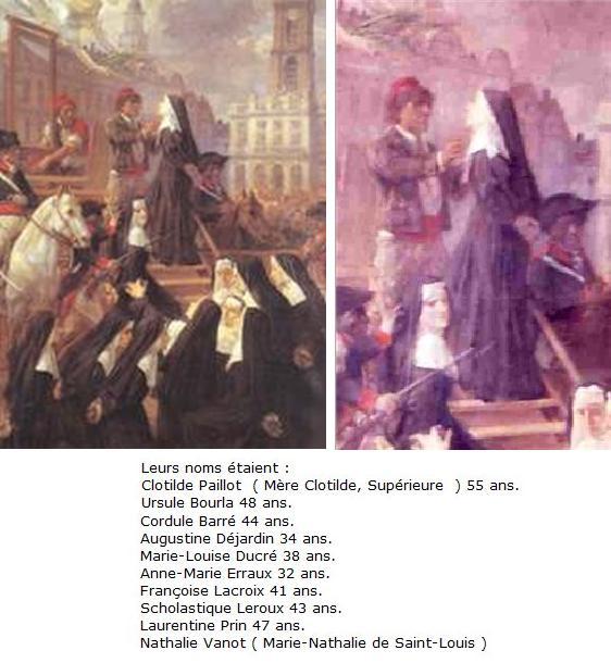 Bienheureuse Nathalie Vanot et ses compagnes, ursulines, martyres à Valenciennes († 1794)