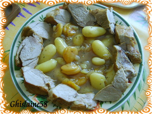 Rouelle de porc au cidre et au miel