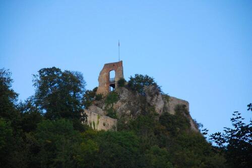 Les ruines du château supérieur