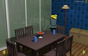 Blue dining room escape