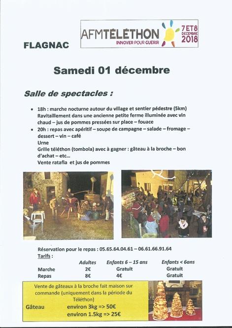 Le Téléthon à Flagnac