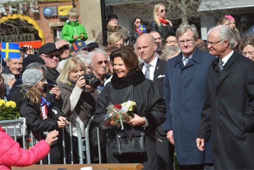 Silvia et carl Gustav à Lund