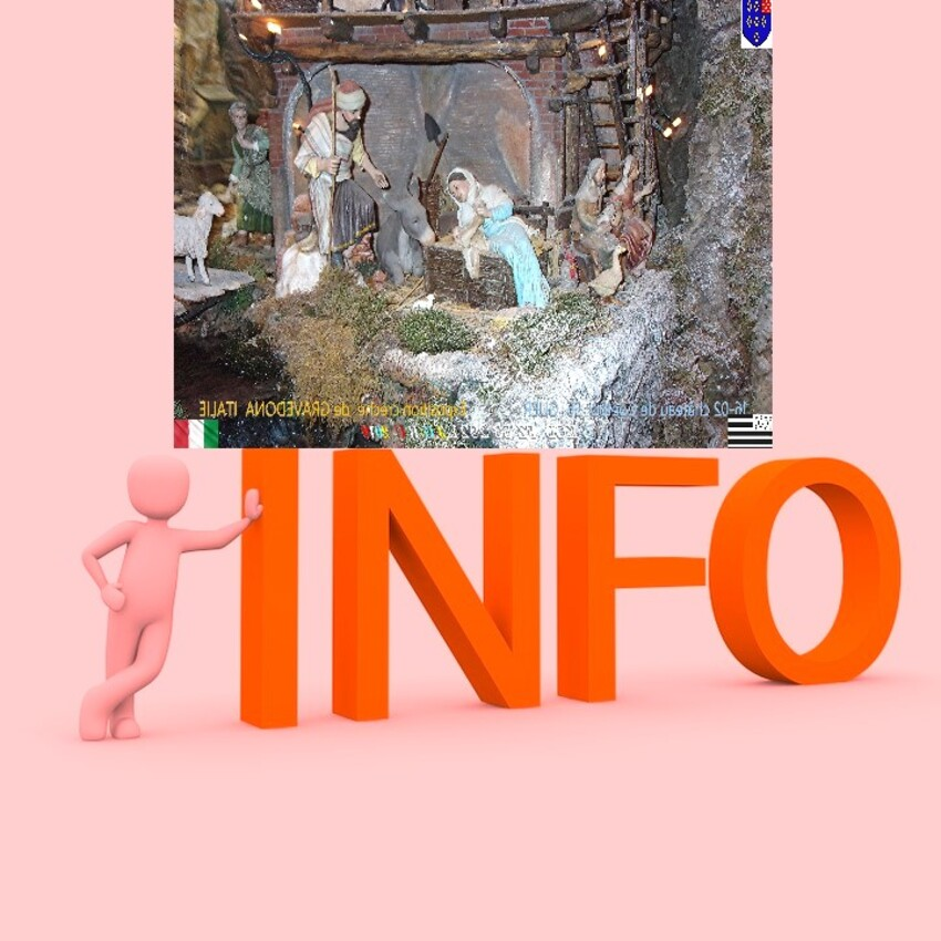 EXPOSITION NOEL :    GRAVEDONA ITALIE - GUER 56   INFORMATION  10/03/2019