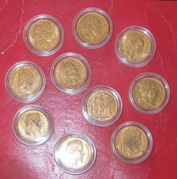 Monnaies en OR   dix 20 francs