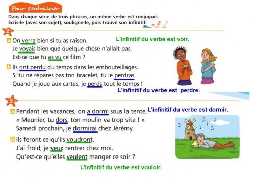 Grammaire Identifier Le Verbe Conjugue Et Donner Son Infinitif Ce2 Bilingue Lif