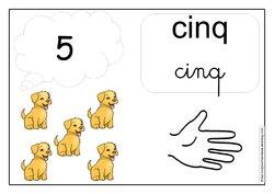 Affichages des nombres de 1 à 10