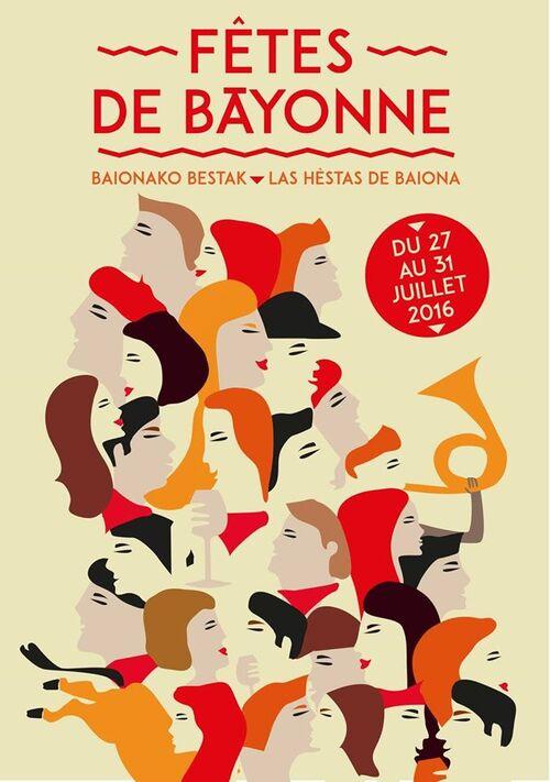 Affiche #3 des fêtes de Bayonne 2016