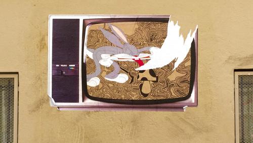 Un lapin nommé Bugs Bunny, street-art