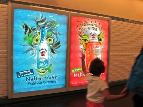 affiche Malibu Arcimboldo métro