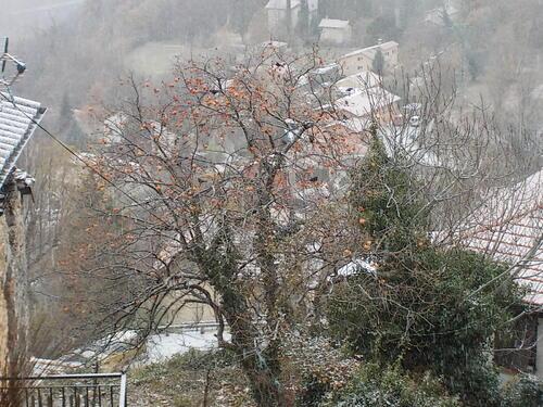 DOMANDALAS  photos sous la neige et minuscule bonhomme