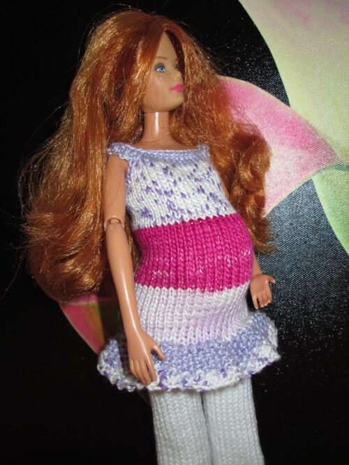 Tuniques et pantalon de grossesse pour barbie