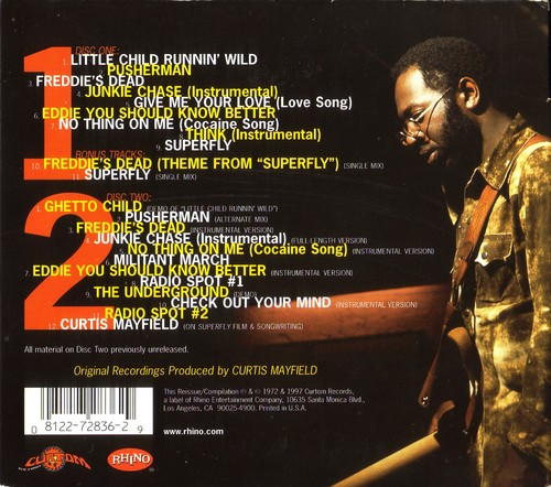 "1997 : CD "" Superfly Deluxe 25 Th Anniversary Edition "" Curtom / Rhino Records R2 72836 [ US ]"
