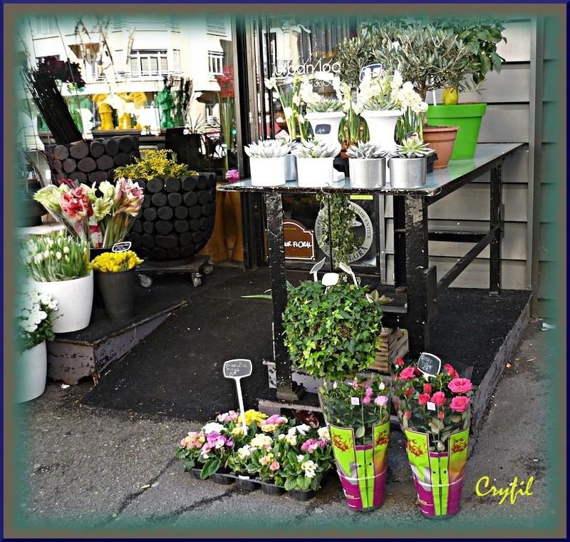 Joli magasin fleuri