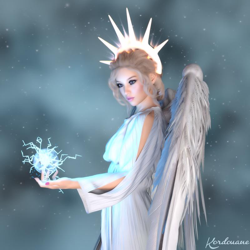 L'ange douceur fond d'écran fantasy