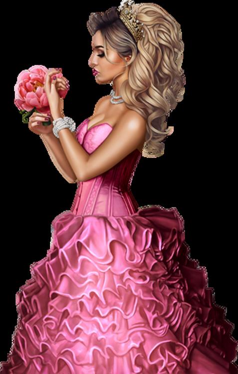 Tubes Femmes en Rose