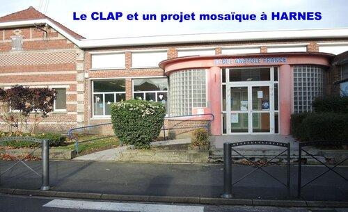 Le CLAP et le projet mosaïque à l'école Anatole France - Harnes