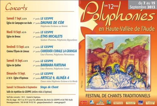 12e Festival Polyphonique - édition 2013